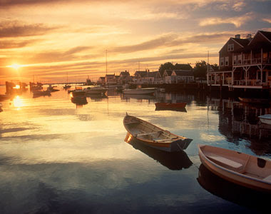 Nantucket Harbor at dawn--when only the fishermen and seagulls are awake