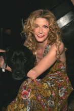 Candace Bushnell of Sex And The City Fame, with her dog Betsy.