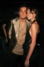 Fabian and Martina Basabe strike a pose in Gucci.