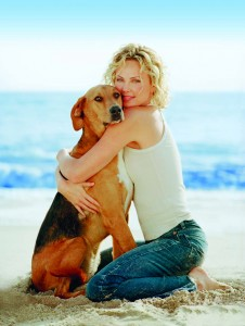 Photo of Charlize Theron & her Dog Robert-Rob