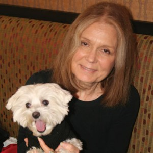 Two strong women, Gloria Steinem and Lucky Diamond discuss the Revolution From Within - a female dog.