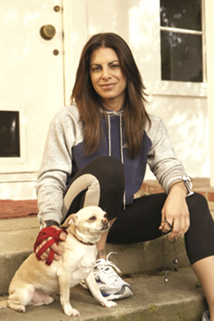 Photo of Jillian Michaels & her Dog Baxter