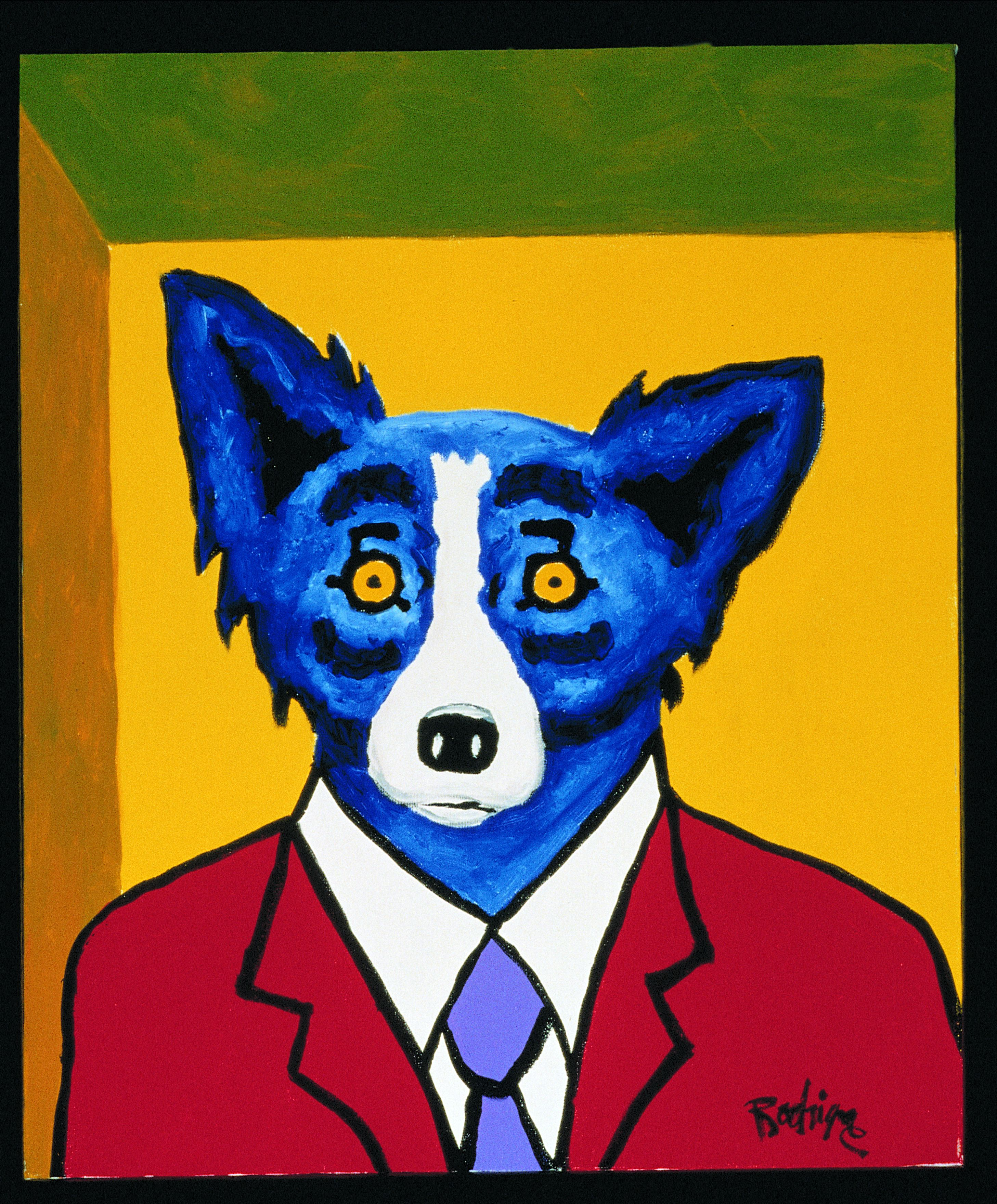 RIP George Rodrigue - On A Blue (Dog) Streak In New Orleans