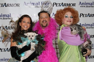 Animalfair.com's Wendy Diamond and Lucky with Bravo TV's Mad Fashion Chris March and Izzy Decauwert