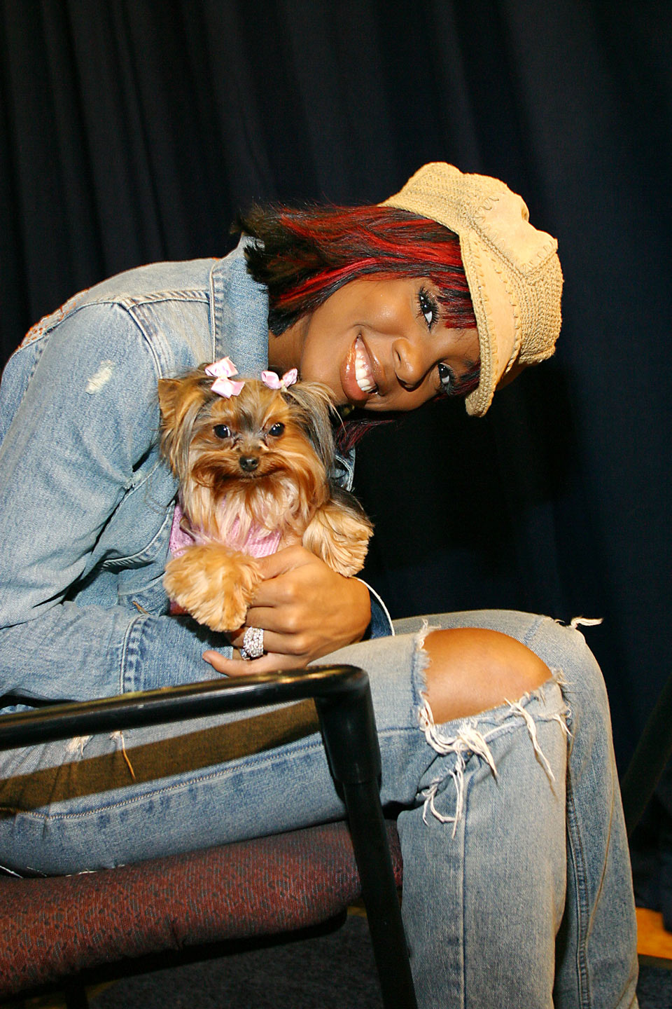 Photo of Kelly Rowland & her Dog