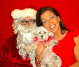 Happy Holidays from Lucky, Santa and Wendy!