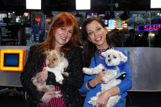 HSNY's Sandra Defeo and Willis join Animal Fair's Wendy and Lucky Diamond to close the Holiday NASDAQ!