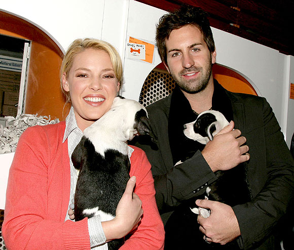 Katherine Heigl and husband Josh Kelley are all about puppy love!