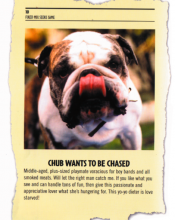"""An Ad from the Book: """"Chub Wants to be Chased"""""""