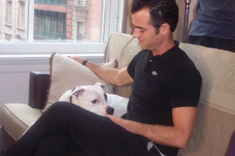 Justin Theroux€™ with Pooma