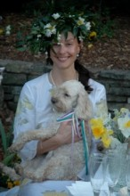 Ashley Judd and Buttermilk in a fun moment!