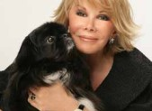 Joan Rivers and her dog Max