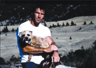 Dennis Quaid and his sidekick Terrier, Clyde, ride through the scenic Big Sky!