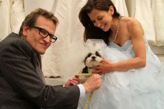 Baby Hope has her fitting at Kleimans by couture designer  Henry Roth, with proud Wendy looking on!