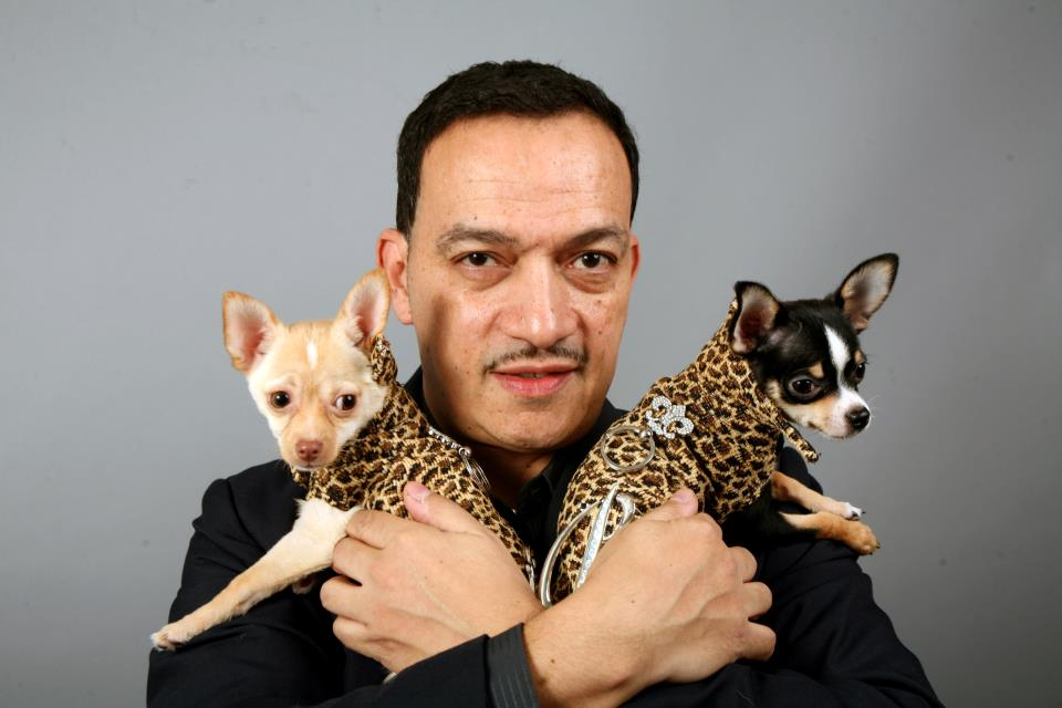 Anthony Rubio with two of his canine creations!