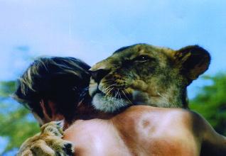 Hubert G. Wells, the lion tamer at work