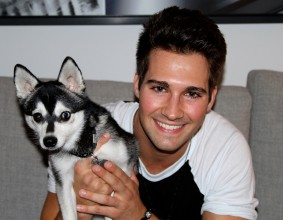 Photo of James Maslow & his  Dog Fox