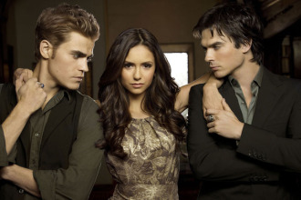 Paul Wesley, Nina Dobrev and Ian Somerhalder The lead actors of The Vampire Diaries