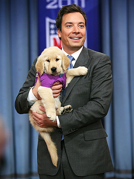 Late Night Host Jimmy Fallon Is In Puppy Love!
