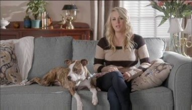 Kaley and her dog, Shirley.