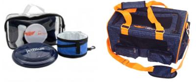 JetBlue sells a custom pet travel kit as well as a pet carrier