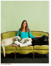 Rory Freedman and her beloved pups: Timber, Lucy and Joey.