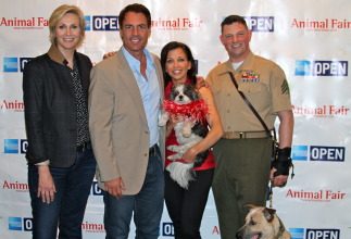 Glee's Jane Lynch, Mark Steines, Wendy Diamond, and Marine Sgt. Leroy Johnston
