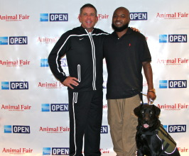 Sean Payton with Army Sergeant Chris Spikes and Seal
