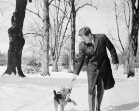 President Kennedy and Charlie his Welsh terrier