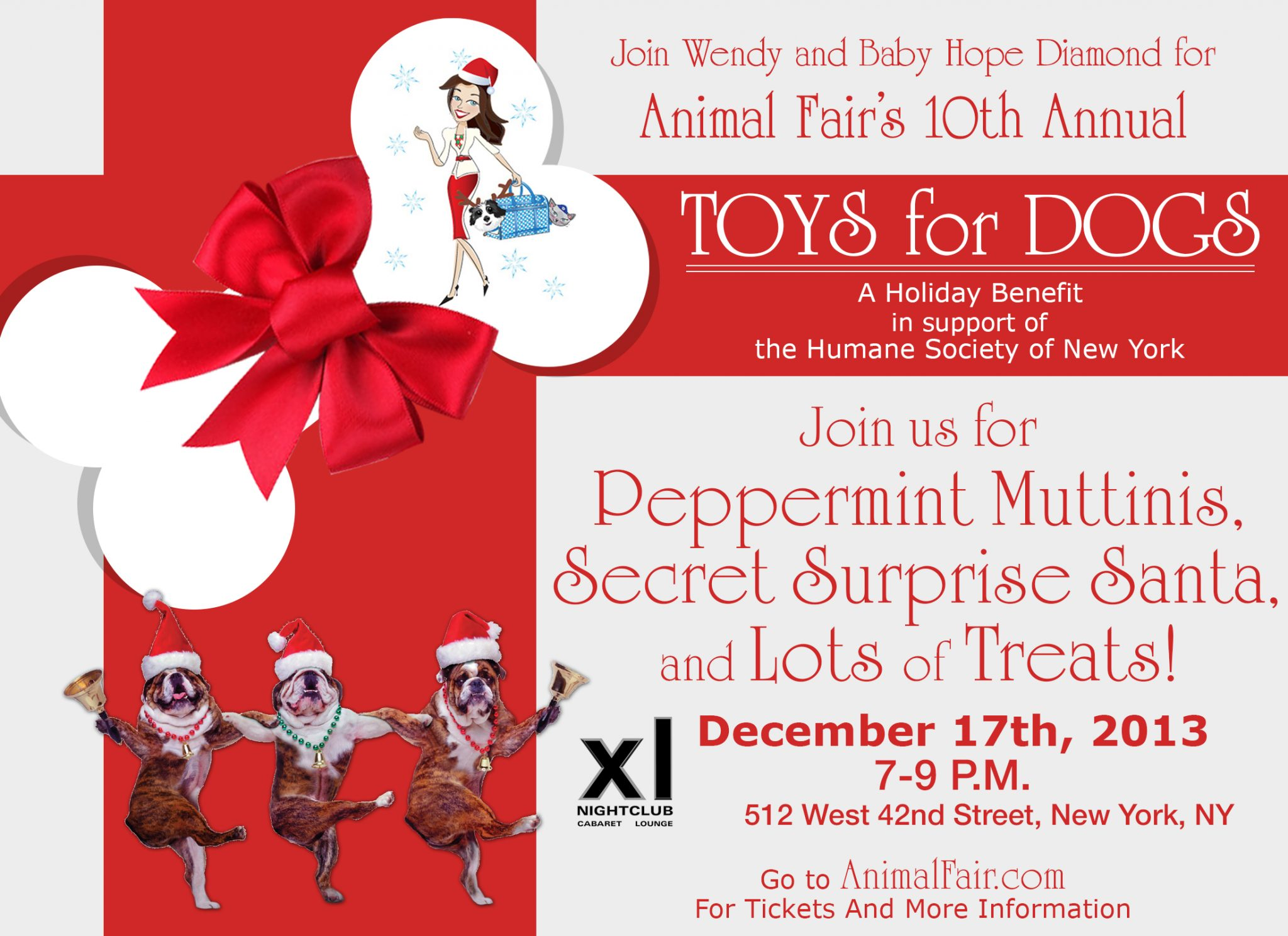 Ho Ho Ho! Join Us For Peppermint Muttinis Tonight! Support @HumaneSocietyNY