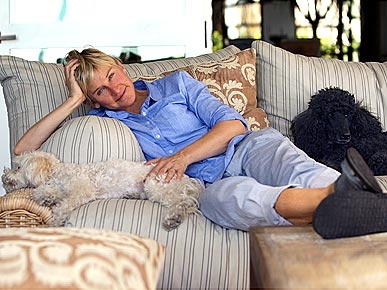 Ellen and dogs