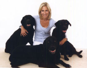 Cathy Bissell and her dogs