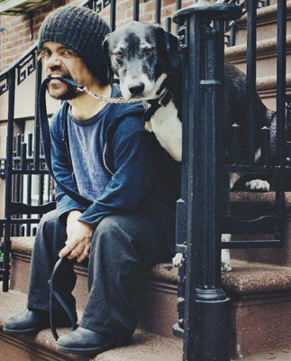 Peter Dinklage and his dog, Kevin