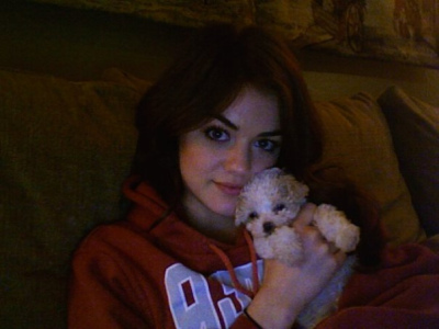 Lucy shows off Jack as a puppy! He's so cute!