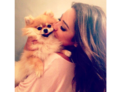 Mitchell with her pup, Foxy - so precious!
