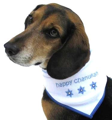 Hanukkah dog scarf