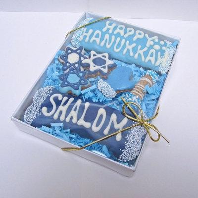 Hanukkah dog treats