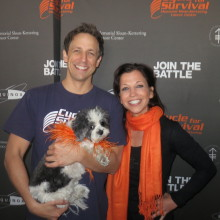 Wendy and Baby Hope with  Seth Meyers at Cycle for Survival 2014!