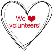 We love volunteers image