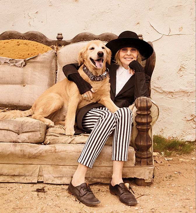 Photo of Diane Keaton & her Dog Red
