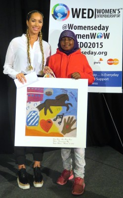 Leona Lewis, her music pioneer award and a student from Lalela!