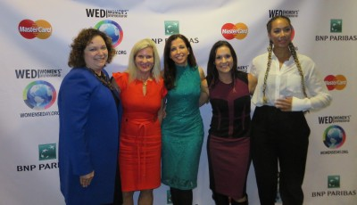 Kelly Chezum, Muff MacMillan, Wendy Diamond, Jen Welter and Leona Lewis - 2015 WED Pioneer Award Winners