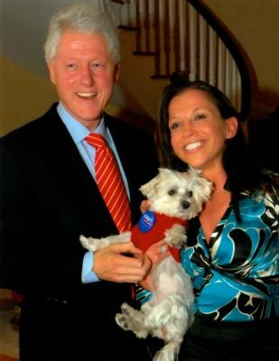 President Clinton gets Lucky!
