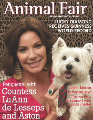 Countess LuAnn and Ashton on the cover of Animal Fair!